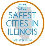 50 Safest Cities In Illinois Logo