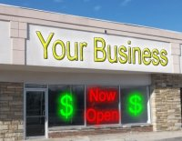 Store front for your business here