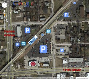 Google Map of Metra Parking