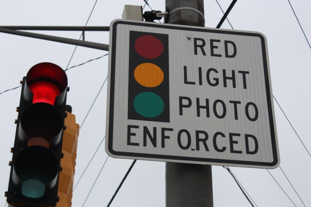 Red Light Photo Enforcement Sign